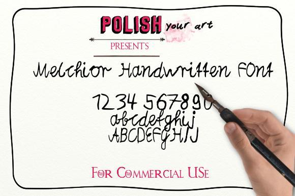 Melchior_Handwritten font by Marta van Eck Designs