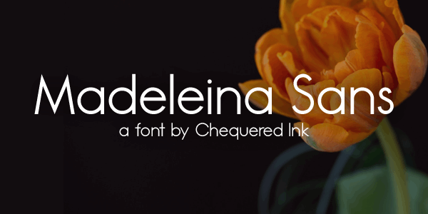 Madeleina Sans font by Chequered Ink