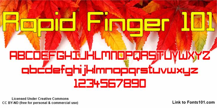 Rapid Finger 101 font by Fonts101