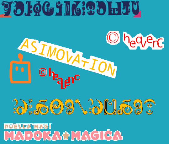 Asimovation font by heaven castro