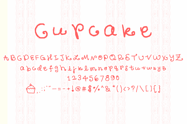 Cupcake font by PhiVelorum
