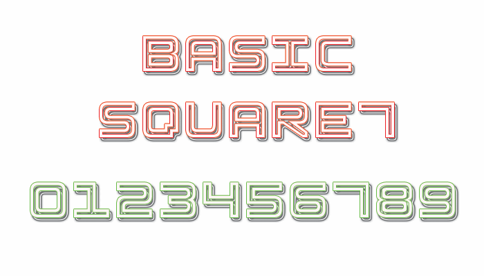 Basic Square 7 font by Style-7