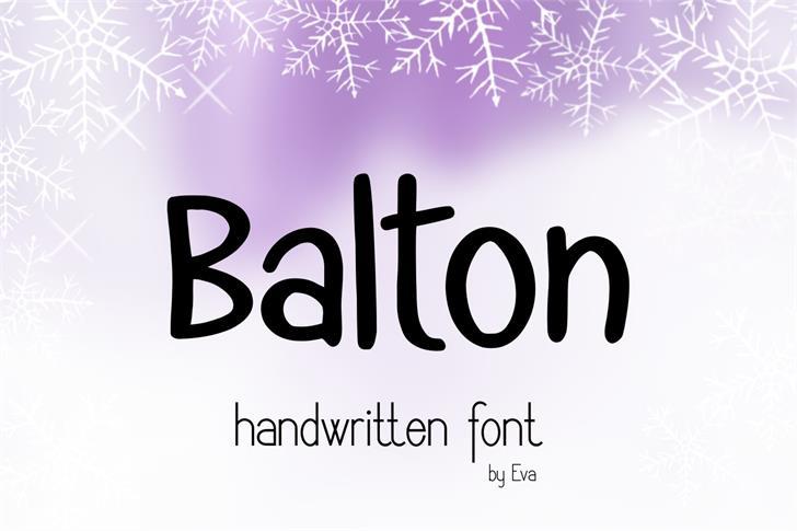Balton font by Eva Barabasne Olasz