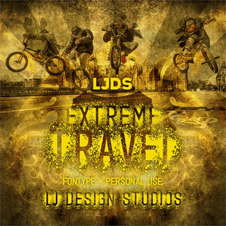 Extreme travel font by LJ Design Studios