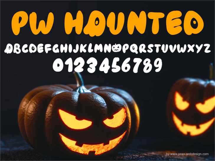 PWHaunted font by Peax Webdesign
