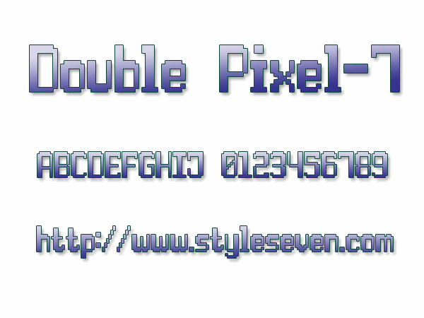 Double Pixel-7 font by Style-7