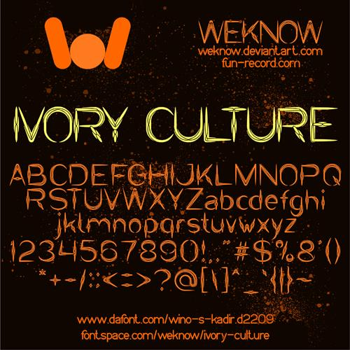 IVORY CULTURE font by weknow
