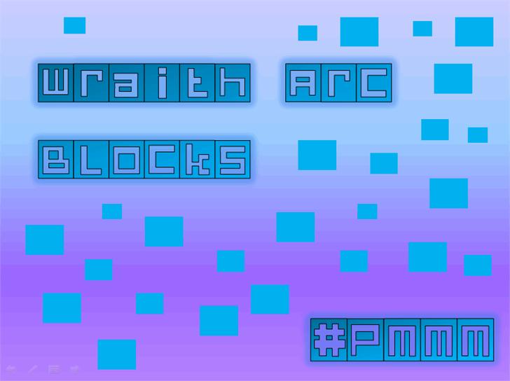 Wraith Arc Blocks font by heaven castro