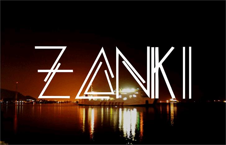 ZANKI font by Murizar