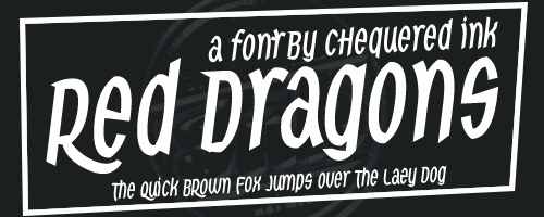 Red Dragons font by Chequered Ink