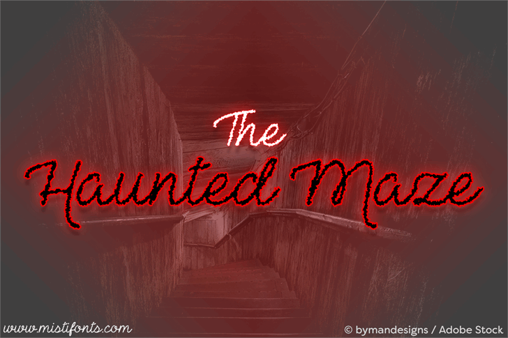 The Haunted Maze font by Misti's Fonts