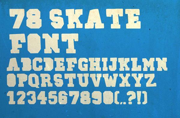 78SKATE font by RASDESIGN