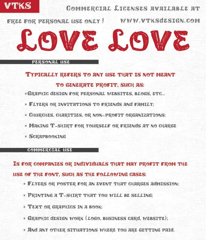 vtks love love font by VTKS DESIGN