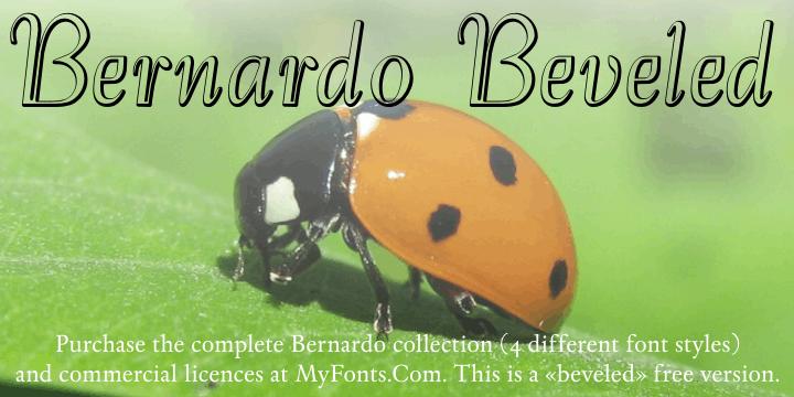 Bernardo Beveled font by Intellecta Design
