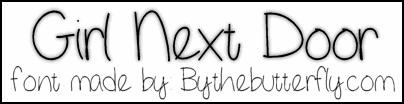 GirlNextDoor font by ByTheButterfly