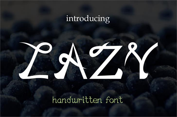EP Lazy font by Emily Penley Fonts