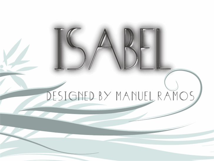 Isabel font by M.Ramos