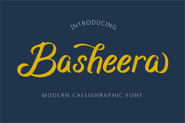 Basheera font by Budi Erlangga