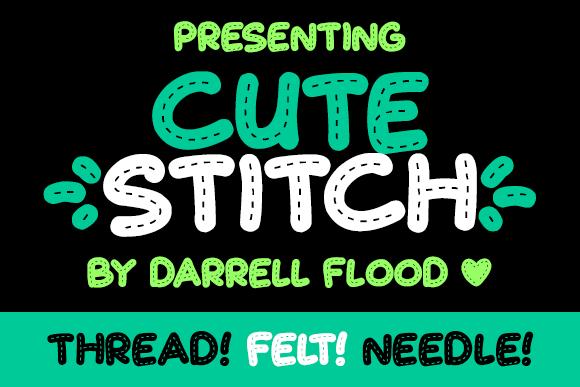 Cute Stitch font by Darrell Flood