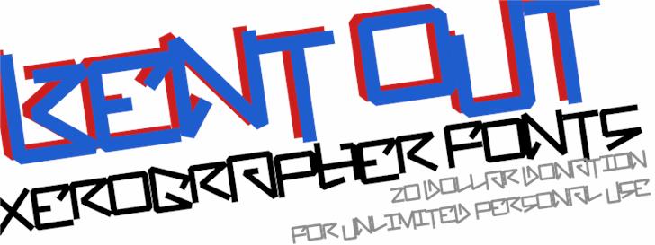 BentOut font by Xerographer Fonts