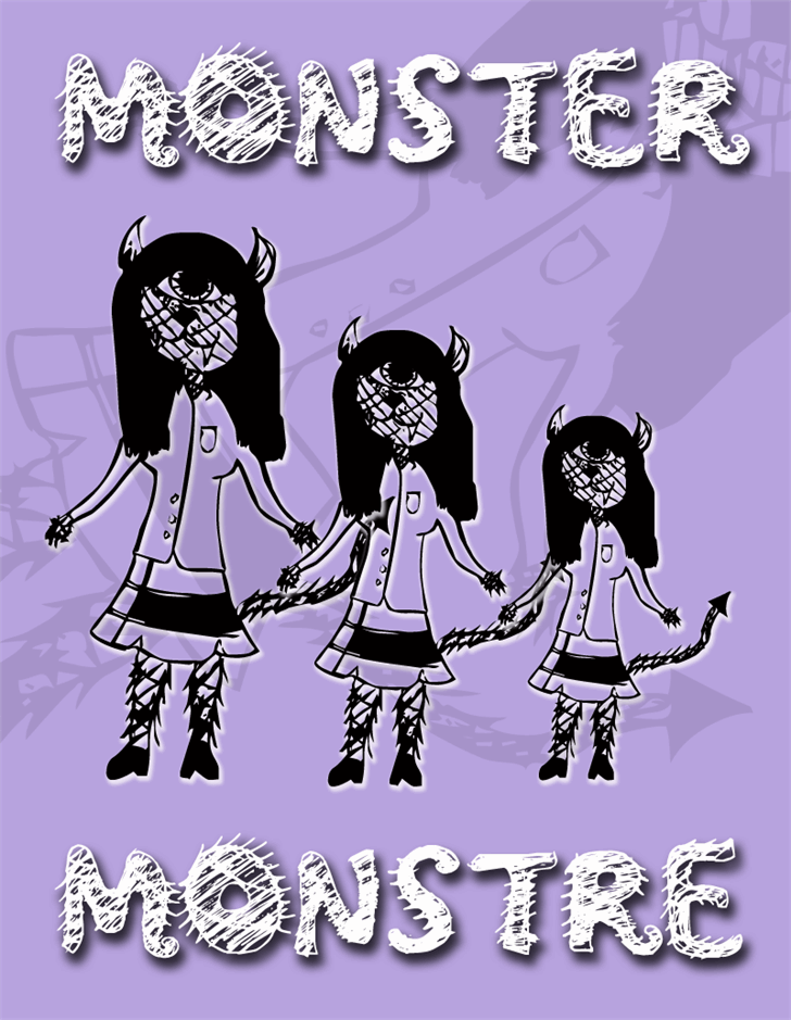 Monster font by CloutierFontes