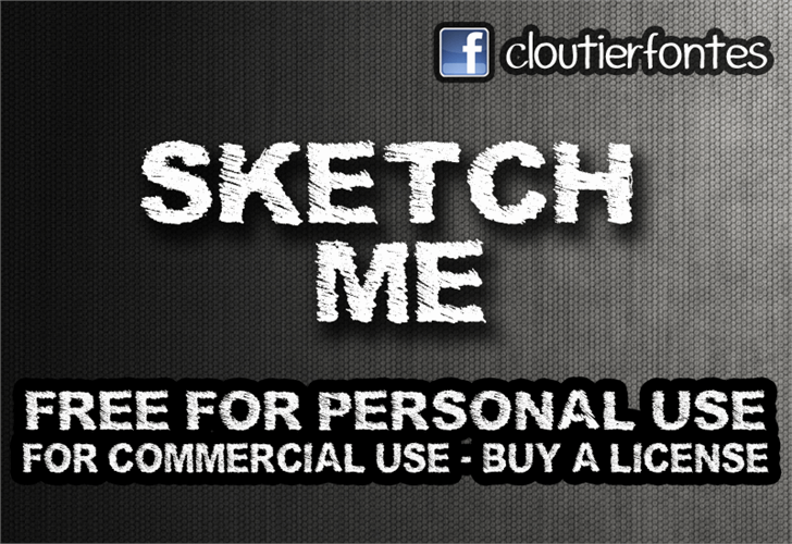 SketchMe font by CloutierFontes