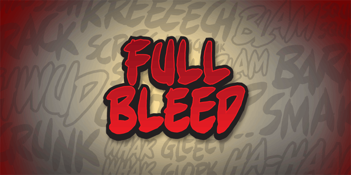 Full Bleed BB font by Blambot