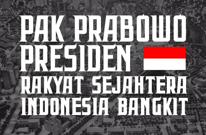 Prabowo font by Gunarta