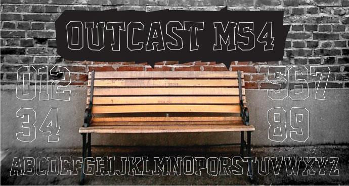 Outcast M54 font by justme54s