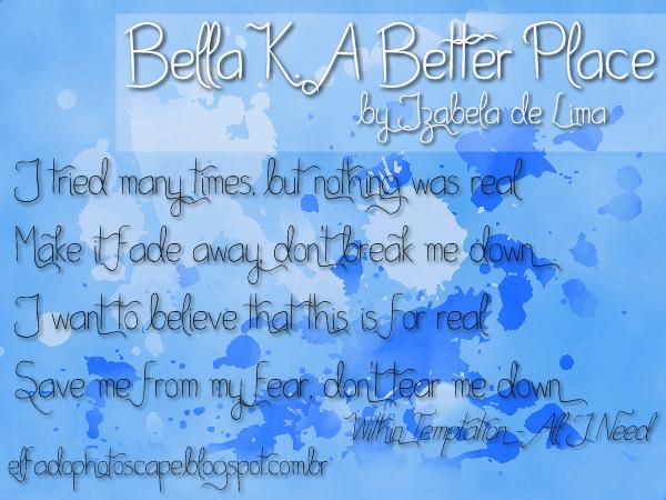 Bella K. A Better Place font by Izabela de Lima