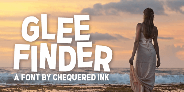 Glee Finder font by Chequered Ink