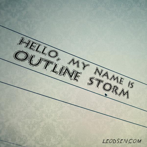 OutlineStorm font by Leodsen
