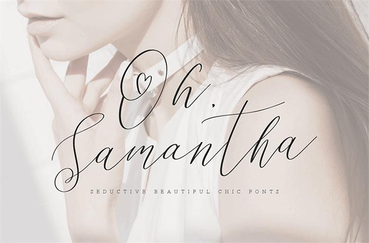 Oh Samantha font by Konstantine Studio