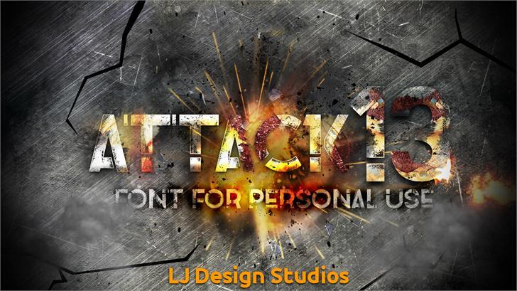 Attack 13 font by LJ Design Studios