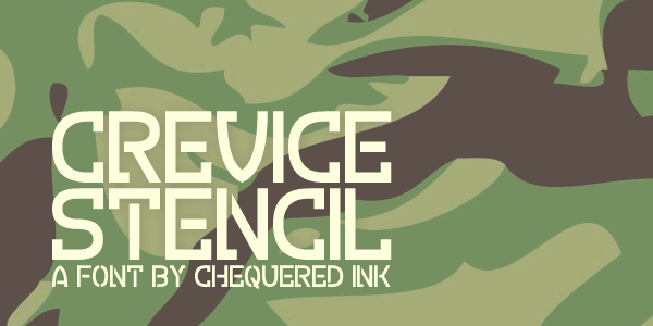 Crevice Stencil font by Chequered Ink