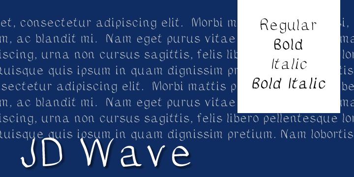 JDWave font by Jecko Development
