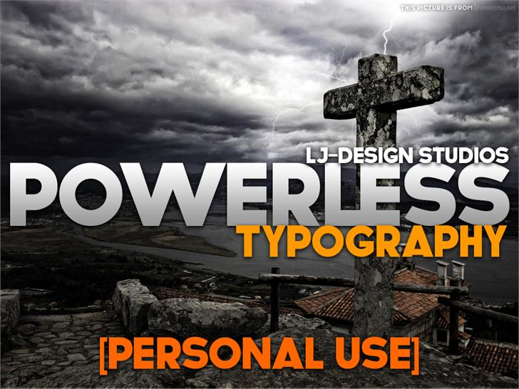 POWERLESS font by LJDS