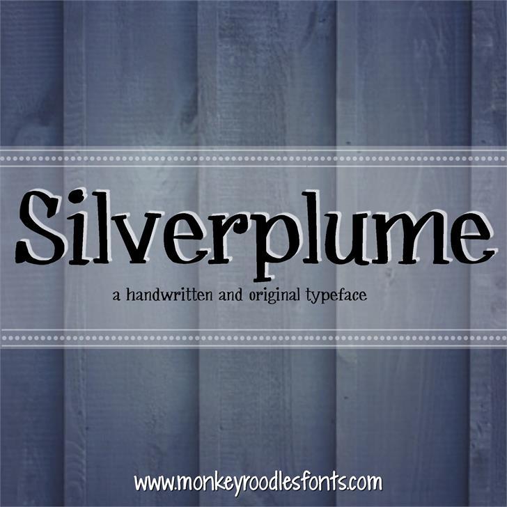 MRF Silverplume font by Sabrina Schleiger