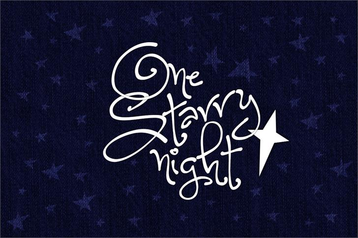 One Starry Night font by Brittney Murphy Design