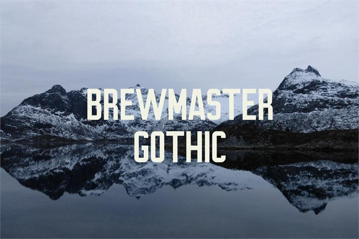 Brewmaster Gothic Demo font by Out Of Step Font Company