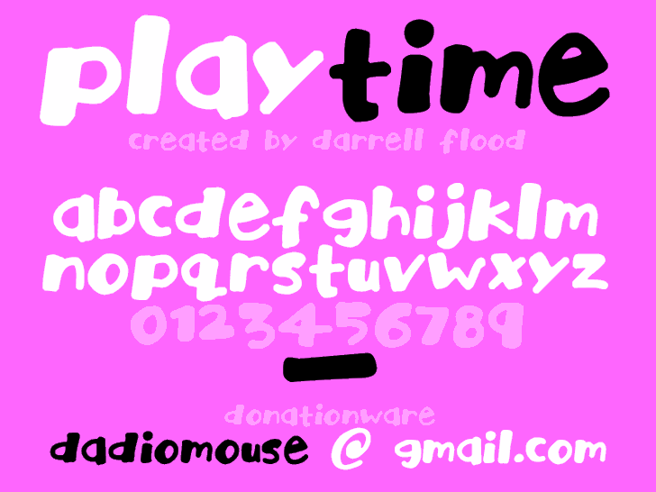 Playtime font by Darrell Flood
