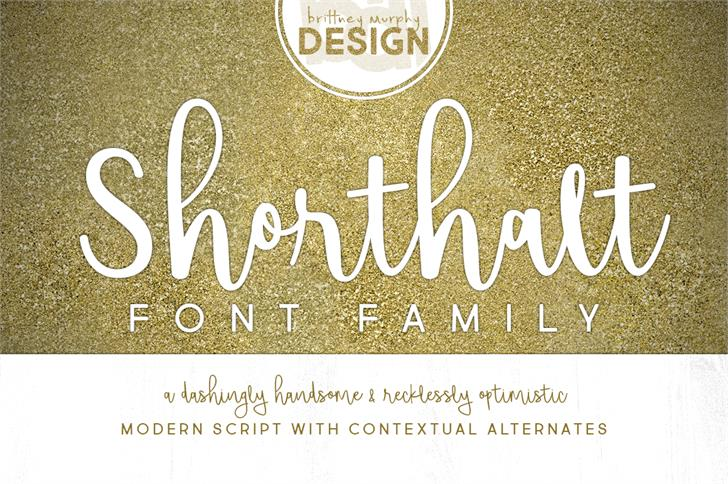 Shorthalt font by Brittney Murphy Design