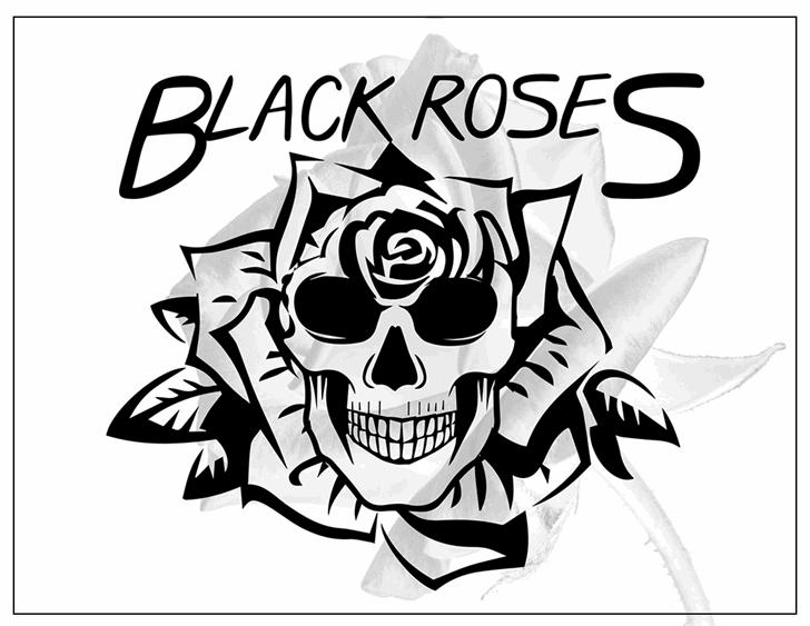 Black Roses font by Font Monger