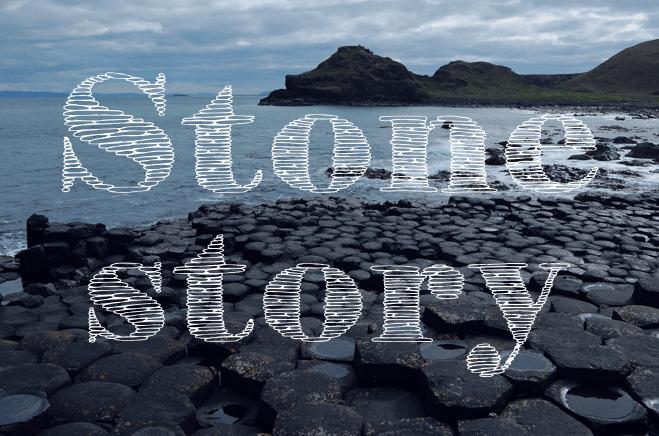 StoneStoryPlusP font by Eva Barabasne Olasz