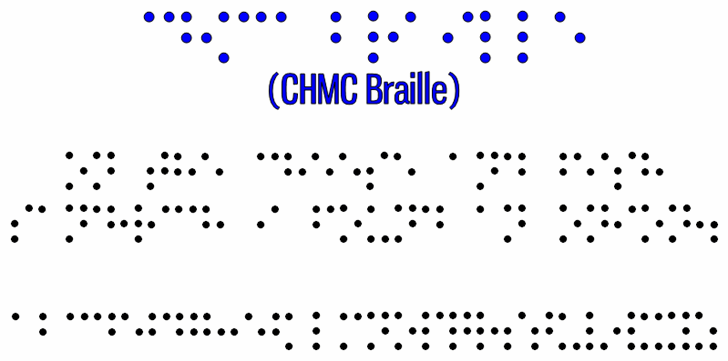 CHMC Braille font by heaven castro