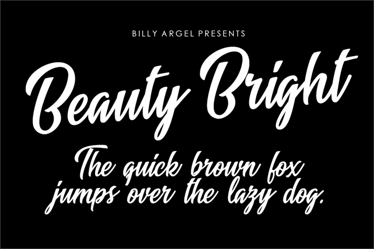 Beauty Bright font by Billy Argel