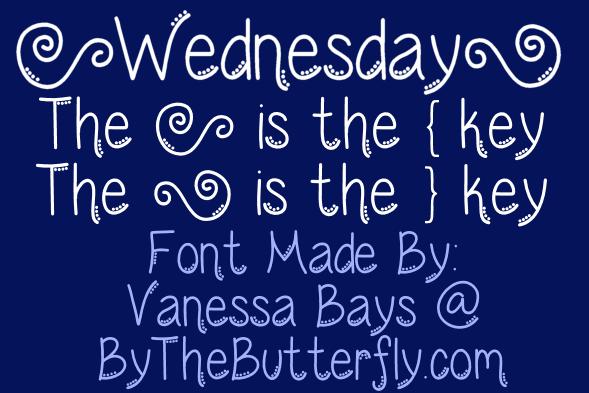 Wednesday font by ByTheButterfly