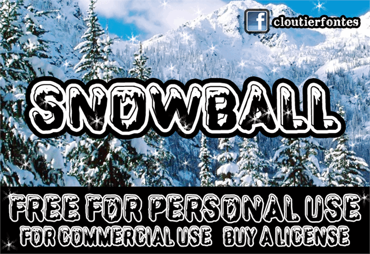 CF SnowBall font by CloutierFontes