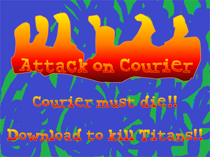 Attack on Courier font by heaven castro
