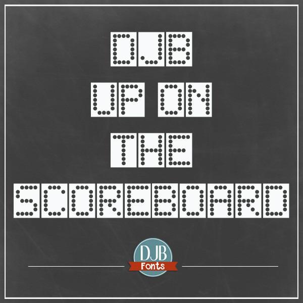 DJB Up on the Scoreboard font by Darcy Baldwin Fonts